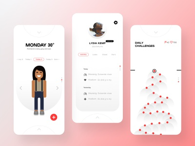 Threadbare 2.0 Product Explorations: Grey Gradient Orbs + Red color illustration product design mobile product ui
