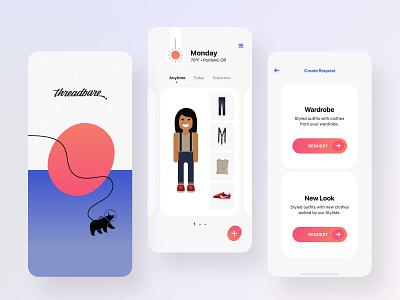 Threadbare Product 2.0 explorations: Gradients design gradients color ui typography mobile design