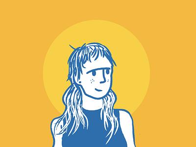 She smiles about tomorrow procreate portrait color illustration design