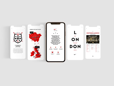 Nike UK Retail Landscape website type ux branding typography vector minimal app ui design