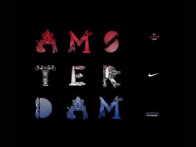 Northern European Retail Landscape for Nike: Amsterdam Typeface illustration logo lettering type design branding typography
