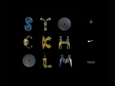 Northern European Retail Landscape for Nike: Stockholm Typeface logo lettering type typography branding design
