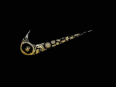 Northern European Retail Landscape for Nike: Stockholm Swoosh logo lettering type typography branding design
