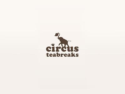 Circus Teabreaks vector illustration typography branding design