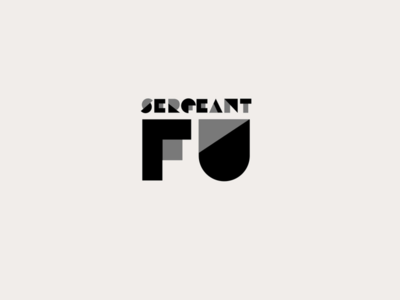Logo for South African punk-rock band, Sergeant Fu.