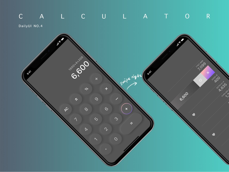 Calculator app design ui