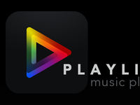 Playlist Music Player Logo