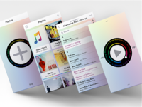 Playlist Music Player: Lux Theme Screens