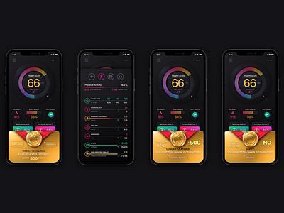 Patientory Weekly Challenge Screens uxdesigner fitness app health app blockchain cryptocurrency ux design user interface ui design ux user interface design ui