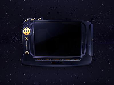 Legacy Work: Digital Blue Astronomy UI UX Design gui design astronomy skeuomorphic user interface design the skins factory user interface ux design ux ui design ui