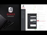 AVASIS: User Dashboard Screens UI + UX Design