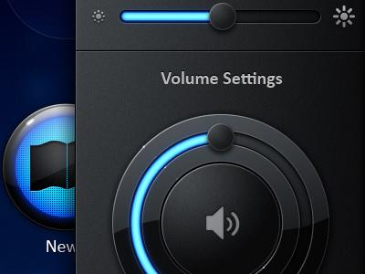 Volume volume slider ui touchscreen blue black exopc