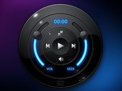 EXOPC Media Player Comp media player slider ui touchscreen blue black exopc