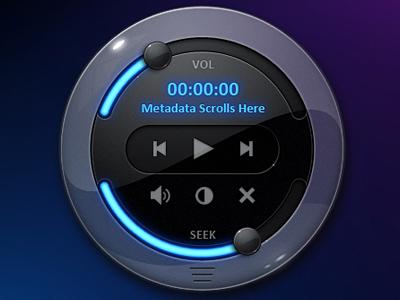 Exo Media Player Final media player slider ui touchscreen green red pink orange blue black exopc