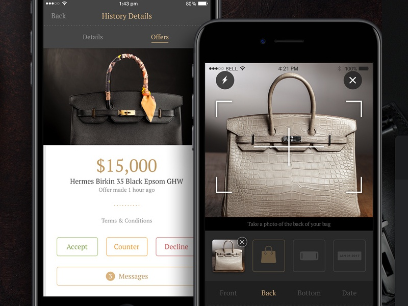 Luxury Reseller iOS App Design by The Skins Factory on Dribbble