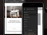 Privé Porter iOS App Design