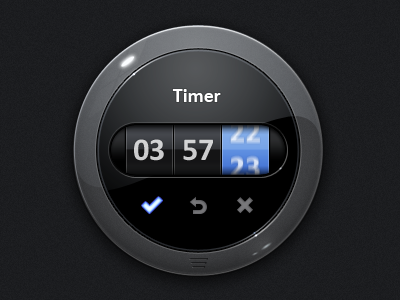 Timer With Motion Blur FX the skins factory ui user interface blue gui user interface design design exopc icon touchscreen pulse effect black