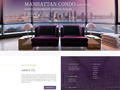 Real Estate Web Design Proof-of-Concept responsive real estate ui designer ux designer web design ui ux