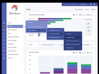 ERP Maestro: Cascading Menu ux designer responsive design responsive ux design user interface ui design ux gui user interface design ui