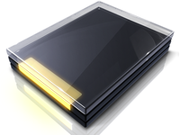 Hyperdesk Flagship Windows Icon | Stacked Glass Folder