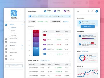 Digital Banking Wallet + Themes banking crypto wallet fintech design ux design user interface ui design ux user interface design ui
