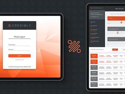 Credibly Loan Calculator fintech banking responsive app design ux design user interface ui design ux user interface design ui