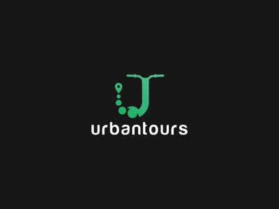 Urbantours Logo Design graphic design branding latest logo vector logo modern logo two color logo gradient logo green logo black logo awesome creative logos awesome logo u creative logo u logo design logodesign lettermarklogo lettermark letter u logo uloogdesign ulogo