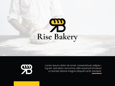 Rise Bakery Logo Design yellow bakery flyer graphic design professional illustration branding bakery br logo design br logo letter br logo appicon logoicon awesome logo unique logo modern logo bakery creative logo creative logo bakery logo bakeing logo bakerylogo