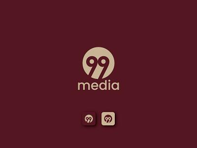 99Media Logo Design movie logo film logo media logo luxury logo graphic  design graphicdesign mobile app logo app icon logo app icon branding creative logo modern logo 99 letter logo 99 letter 99designs 99 creative logo 99 logo design 99 logo 99logo 99