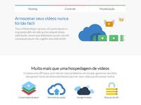 Landing page about video platform