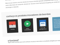Landing page of boo-box products