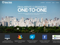 Landing Page of Boo-box