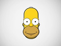 Homer face created with only CSS3