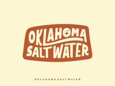 OKLAHOMA SALT WATER beach saltwater one color logo ocean logo oklahoma ocean simple design simplistic simple typogaphy wordmark