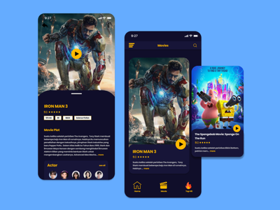 Movie App web design ui mobile app design app mobile app mobile mobile ui uidesign simple design
