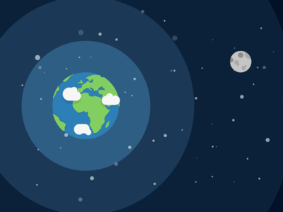 Space illustration infographic moon earth space