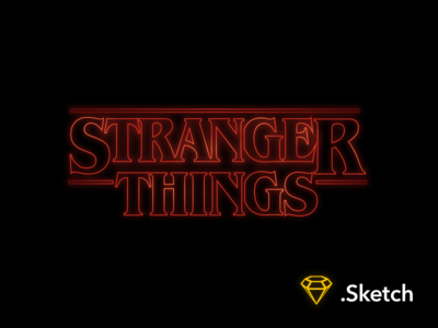 Stranger Things - Titles resource sketch i found the chocolate pudding titles type netflix benguiat stranger things