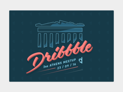 Dribbble Athens Meetup by Digitized illustration acropolis greece type lettering digitized athens meetup dribbble