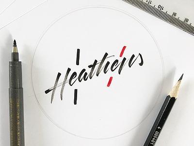 Heathens - twenty øne piløts clique heathens twenty one pilots calligraphy lettering