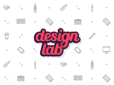 Design Lab Brand background community designer design meetup berlin london outline branding icons lettering handlettering