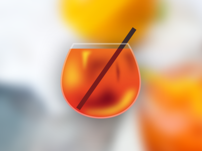 MAKE SKEUOMORPHISM GREAT AGAIN skeuomorphic glass spritz aperol