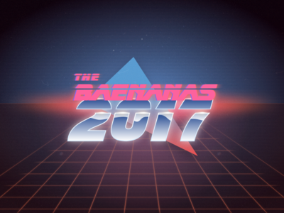 The Baenanas - 2017 illustration blade runner tron 80s kavinsky vhs crt grid vaporwave retro