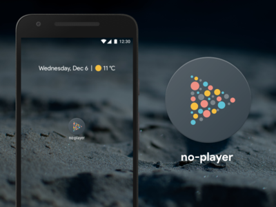 no-player pixel novoda video player illustration adaptive launcher icon android