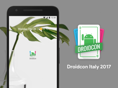 Droidcon Italy 2017 material droidcon italy turin android icon illustration bugdroid cards
