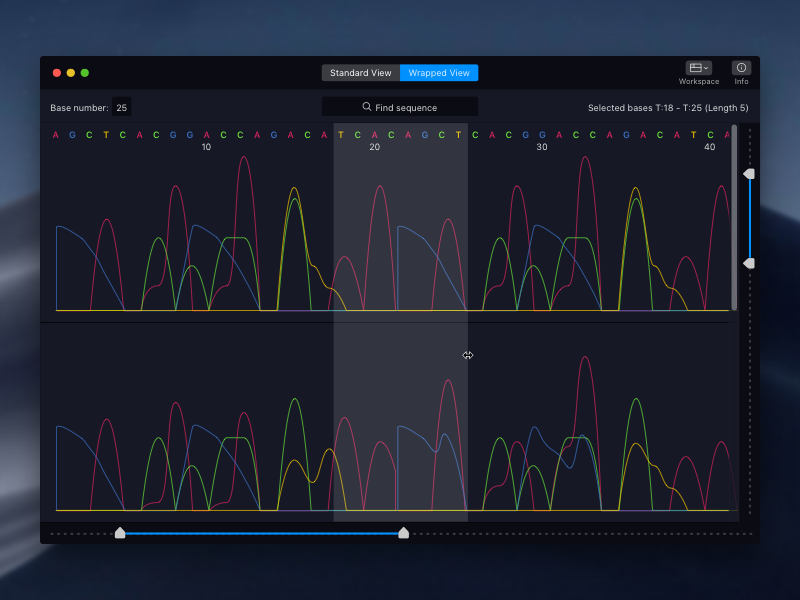 Chromatogram Viewer for Mac by Chris Basha on Dribbble