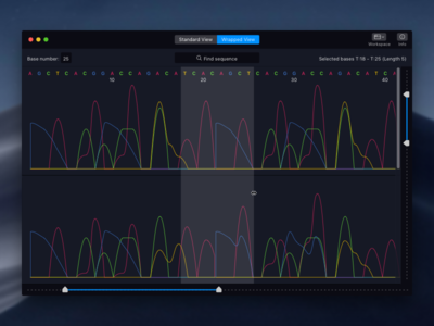 Chromatogram Viewer for Mac chromatogram graph desktop mac os app dark mac