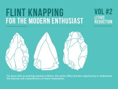 Flint knapping flint stone rock modern swiss clean illustration mono blue