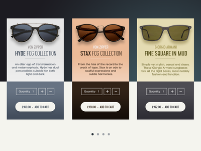 Sunglasses Shopping Cards shop ecommerce product daily ios ui
