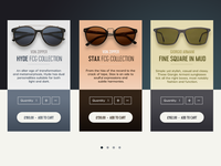Sunglasses Shopping Cards