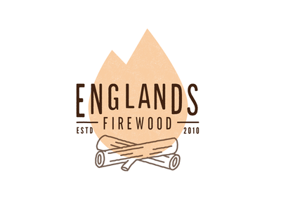 Firewood logo concept typography type old world rustic distressed illustration wood identity logo